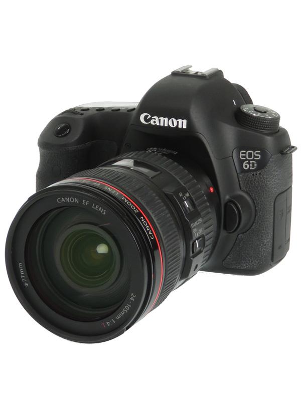 【Canon】キヤノン『EOS 6D EF24-105L IS STM レンズキット』2020万画素 Wi-Fi デジタル一眼レフカメラ 1週間保証【中古】b06e/h18AB