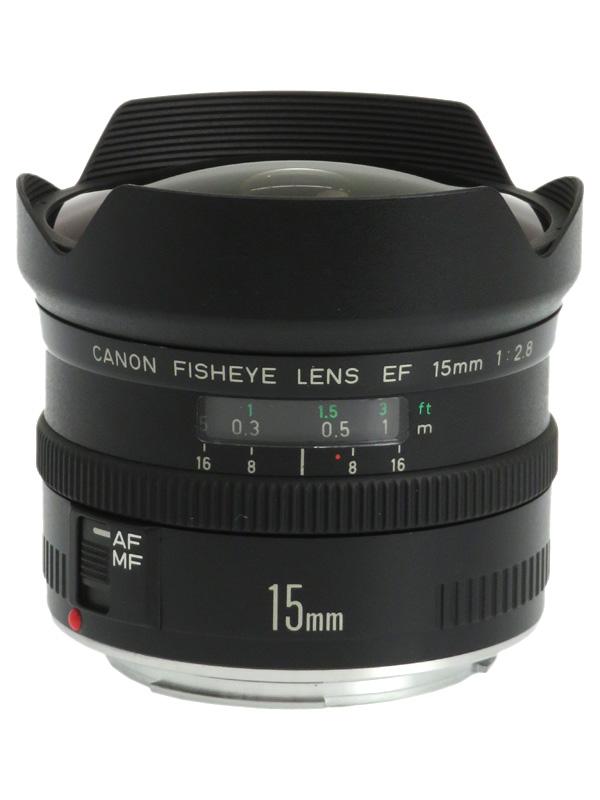 【Canon】キヤノン『EF15mm F2.8フィッシュアイ』EF1528FE 魚眼 一眼レフカメラ用レンズ 1週間保証【中古】b03e/h11AB