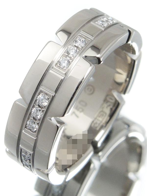 【Cartier】【仕上済】カルティエ『K18WG タンクフランセーズ リング ダイヤ SM』10号 1週間保証【中古】b01j/h22SA