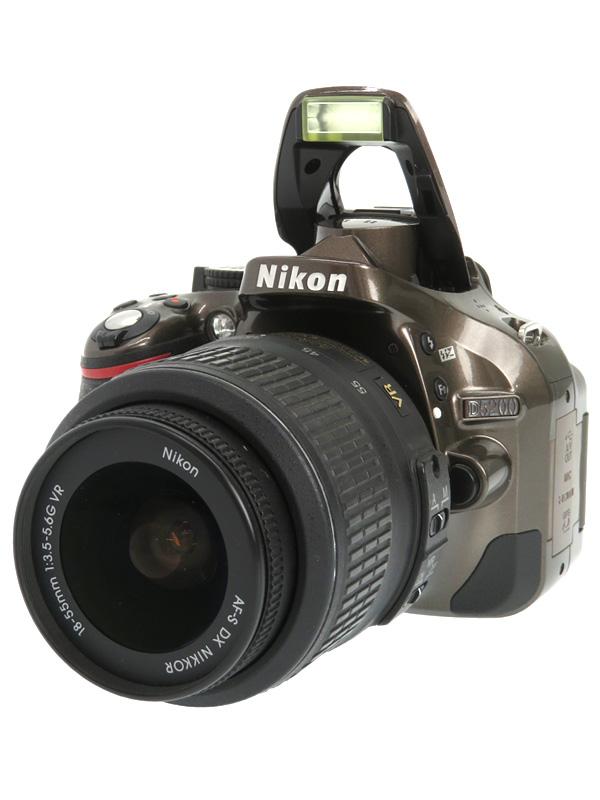 【Nikon】ニコン『D5200 18-55 VR レンズキット』ブロンズ 2410万画素 DXフォーマット SDXC デジタル一眼レフカメラ 1週間保証【中古】b02e/h21AB