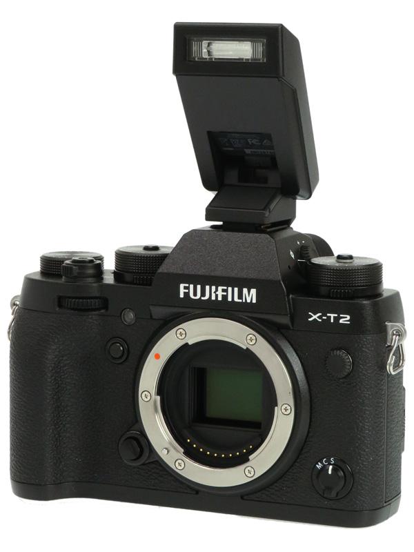 【FUJIFILM】富士フイルム『X-T2』F X-T2-B ブラック ボディ 2430万画素 APS-C SDXC ミラーレス一眼カメラ 1週間保証【中古】b02e/h03AB