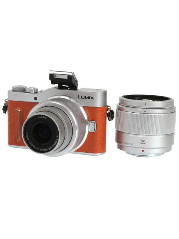 【Panasonic】パナソニック『LUMIX(ルミックス) GF10 ダブルレンズキット』DC-GF10W-D オレンジ 1600万画素 4K動画 ミラーレス一眼カメラ 1週間保証【中古】b02e/h04AB