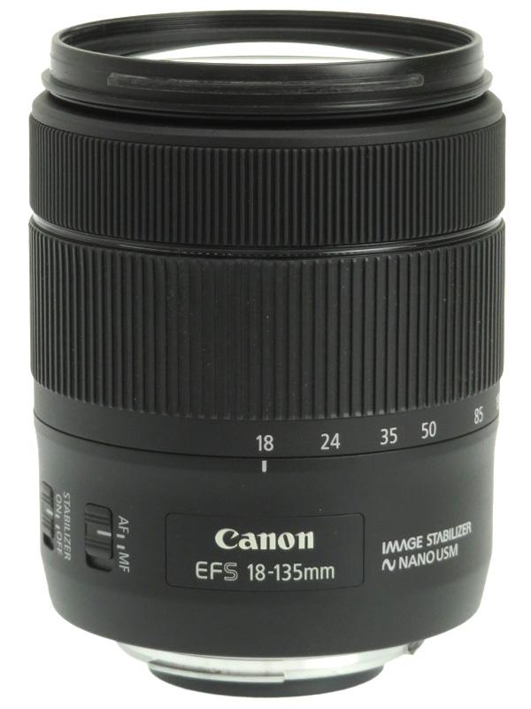 【Canon】キヤノン『EF-S18-135mm F3.5-5.6 IS USM』EF-S18-135ISUSM 29-216mm相当 デジタル一眼レフカメラ用レンズ 1週間保証【中古】b06e/h17AB