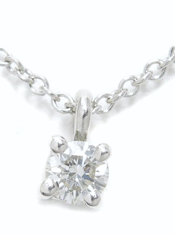 【TIFFANY&Co.】ティファニー『PT950 ソリティア ダイヤモンド ネックレス 1Pダイヤ』1週間保証【中古】b02j/h19A