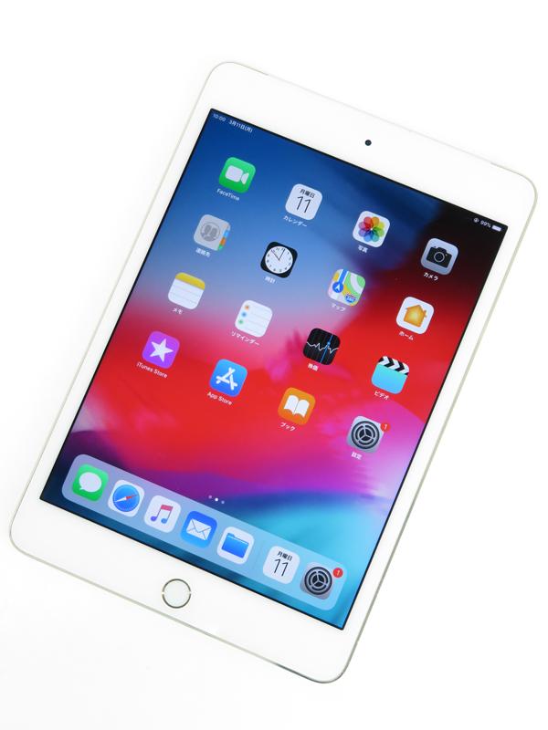 【Apple】アップル『iPad mini 4 Wi-Fi + Cellular 64GB au』MK752J/A タブレット 1週間保証【中古】b05e/h22B