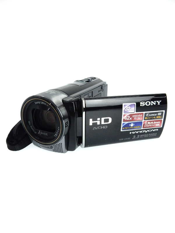 【SONY】ソニー『ハンディカム ブラック』HDR-CX180 フルハイビジョン 1/4型 149万画素 32GB ビデオカメラ 1週間保証【中古】b03e/h15A
