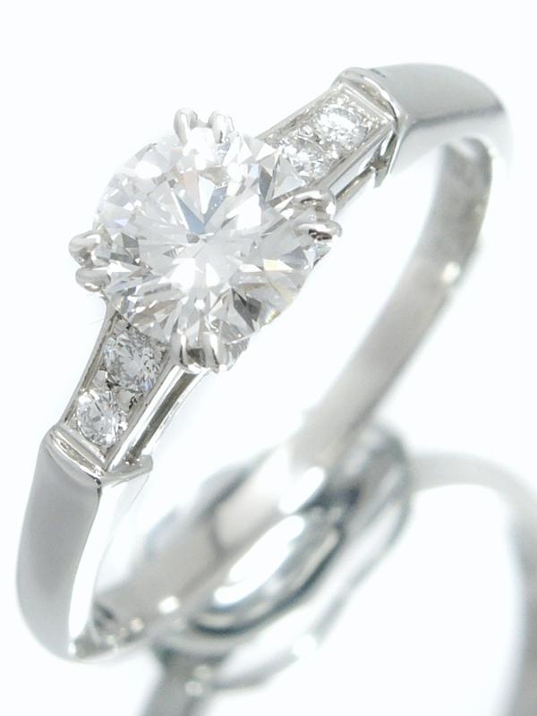 【HARRY WINSTON】【ラウンド・トリスト】【仕上済】【ソーティング】ハリーウィンストン『PT950リング ダイヤモンド0.700ct/G/VS-2/EXCELLENT』12号【中古】b03j/h16SA