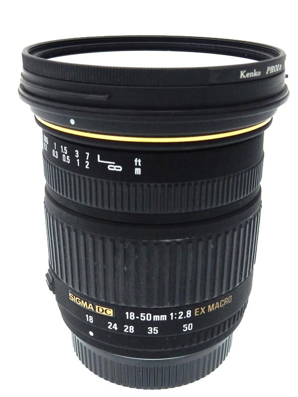 【SIGMA】シグマ『18-50mm F2.8 EX DC MACRO』ペンタックスKマウント APS-C 25.5-105mm相当 デジタル一眼レフカメラ用レンズ 1週間保証【中古】b03e/h20B