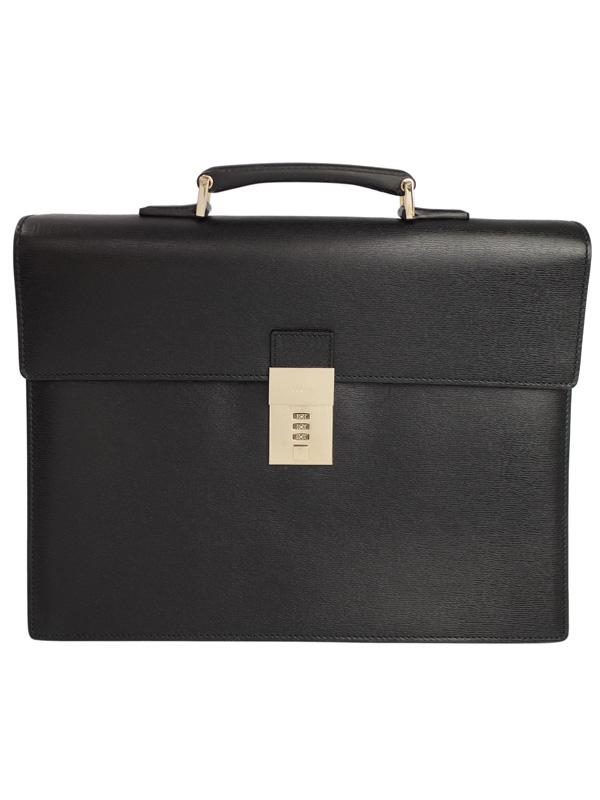 【GUCCI】グッチ『レザー ブリーフケース』34044 メンズ ビジネスバッグ 1週間保証【中古】b02b/h19AB