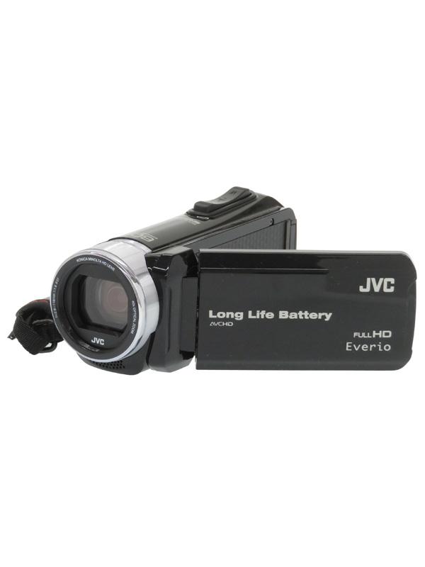 【JVC】ジェイブイシー『Everio(エブリオ)』GZ-F117-B ブラック 光学40倍 3型タッチパネル デジタルビデオカメラ 1週間保証【中古】b03e/h20AB