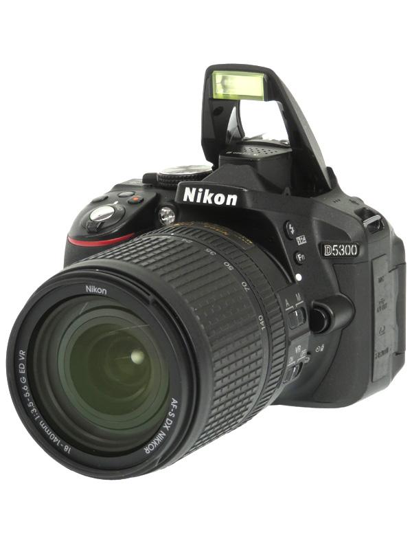【Nikon】ニコン『D5300 18-140 VR レンズキット』ブラック 2416万画素 デジタル一眼レフカメラ 1週間保証【中古】b03e/h07AB