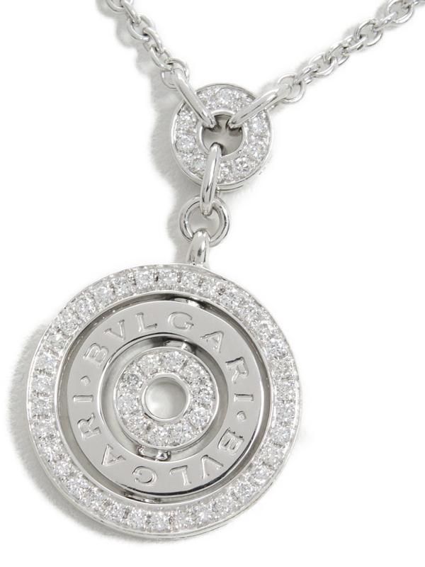 【BVLGARI】ブルガリ『K18WG アストラーレ・チェルキ ダイヤモンド ネックレス』1週間保証【中古】b03j/h11A