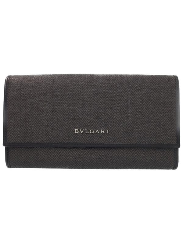 【BVLGARI】ブルガリ『ウィークエンド 二つ折り長財布』32585 メンズ 1週間保証【中古】b06b/h18AB