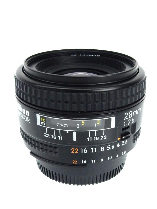 【Nikon】ニコン『AF Nikkor 28mm f/2.8』ニコンFマウント系 レンズ 1週間保証【中古】b03e/h06AB