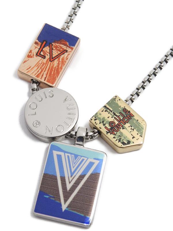 【Louis Vuitton】ルイヴィトン『コリエ・LV アルプス』M63776 ネックレス 1週間保証【中古】b05j/h10AB