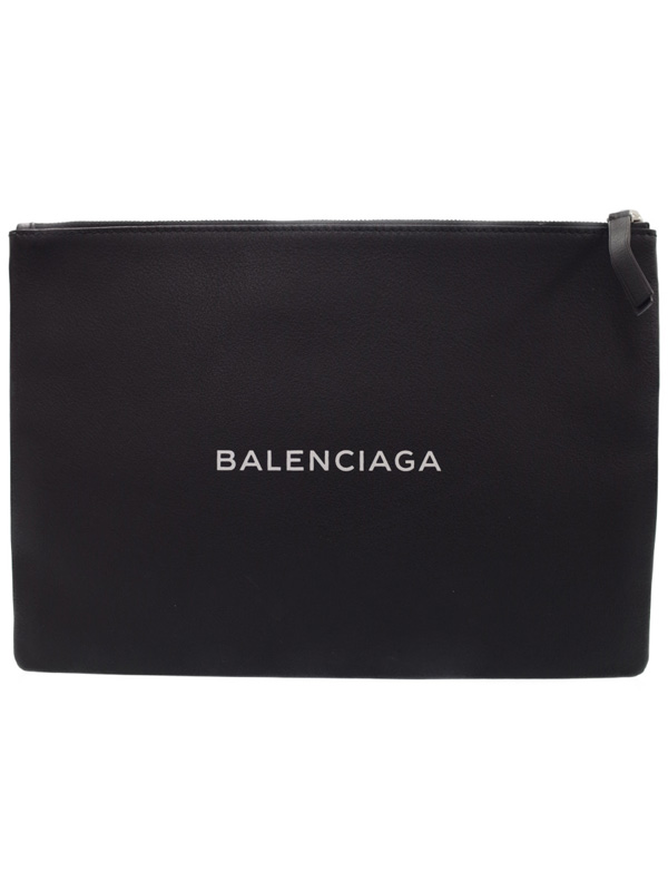 【BALENCIAGA】バレンシアガ『ショッピング クリップ M』485110 メンズ クラッチバッグ 1週間保証【中古】b01b/h17A