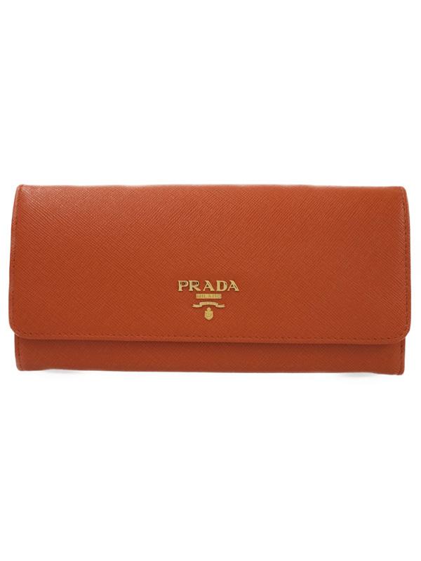 【PRADA】プラダ『二つ折り長財布』1M1132 レディース 1週間保証【中古】b02b/h21A