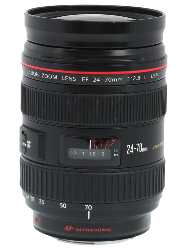 【Canon】キヤノン『EF24-70mm F2.8L USM』EF24-70L 非球面 標準ズーム 一眼レフカメラ用レンズ 1週間保証【中古】b03e/h20B