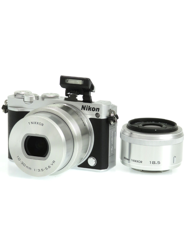 【Nikon】ニコン『Nikon 1 J5 ダブルレンズキット』シルバー 2081万画素 CXフォーマット SDXC Wi-Fi 4K ミラーレス一眼カメラ 1週間保証【中古】b03e/h15AB