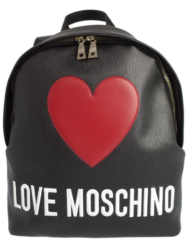 【LOVE MOSCHINO】ラブモスキーノ『ハートパッチ付き リュックサック』レディース バックパック 1週間保証【中古】b03b/h16SA
