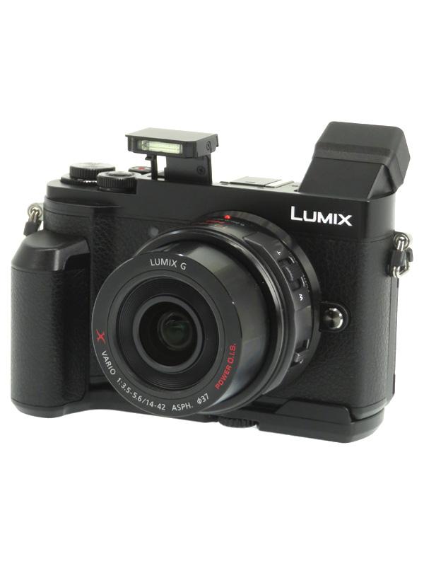 【Panasonic】パナソニック『LUMIX(ルミックス)GX7 Mark III』DC-GX7MK3-K レンズH-PS14042付属 ミラーレス一眼カメラ 1週間保証【中古】b03e/h06AB