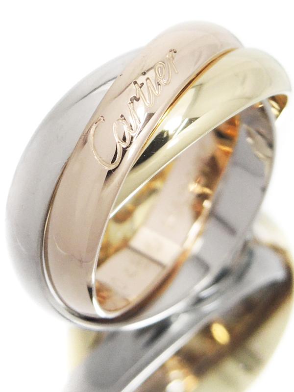 【Cartier】【スリーカラーゴールド】【仕上済】カルティエ『K18YG/K18PG/K18WG トリニティ リング』8号 1週間保証【中古】b05j/h12SA