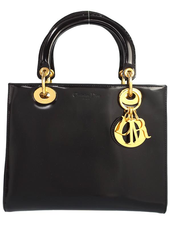 【Christian Dior】クリスチャンディオール『レディディオール(M)』レディース ハンドバッグ 1週間保証【中古】b03b/h16AB