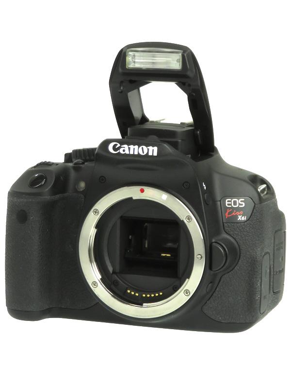 【Canon】キヤノン『EOS Kiss X6i ボディ』1800万画素 EF-S フルHD動画 SDXC デジタル一眼レフカメラ 1週間保証【中古】b02e/h22B