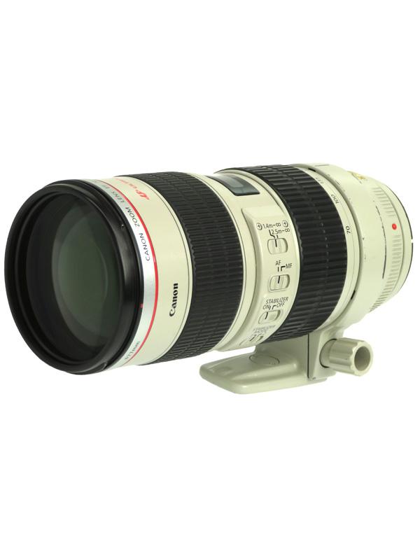 【Canon】キヤノン『EF70-200mm F2.8L IS USM』EF70-200LIS 望遠ズーム 手ブレ補正 一眼レフカメラ用レンズ 1週間保証【中古】b02e/h03B