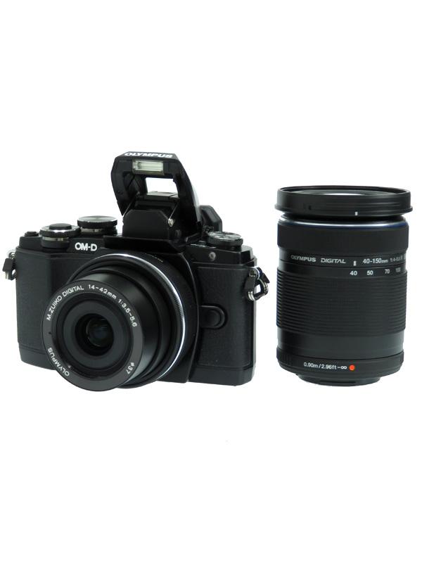 【OLYMPUS】オリンパス『OM-D E-M10 EZダブルズームキット』ブラック 1605万画素 SDXC ミラーレス一眼カメラ 1週間保証【中古】b06e/h17AB