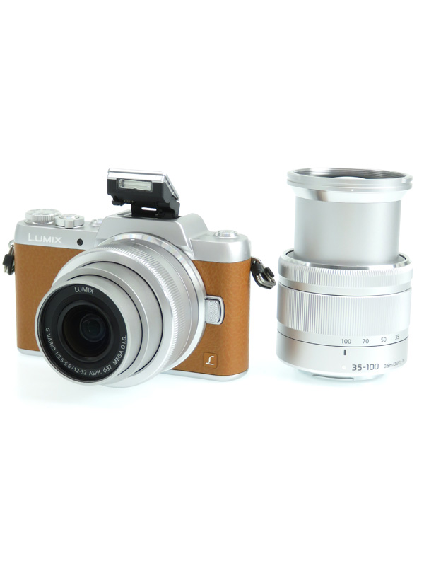 【Panasonic】パナソニック『LUMIX(ルミックス) GF7ダブルズームレンズキット』DMC-GF7W-T ブラウン 1600万画素 ミラーレス一眼カメラ 1週間保証【中古】b06e/h17AB