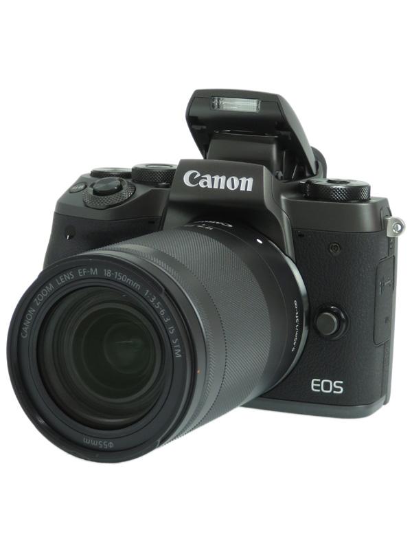 【Canon】キヤノン『EOS M5 EF-M18-150 IS STM レンズキット』2420万画素 APS-C SDXC ミラーレス一眼カメラ 1週間保証【中古】b06e/h18AB