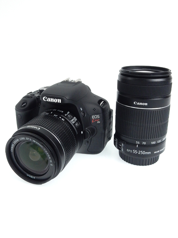 【Canon】キヤノン『EOS Kiss X5ダブルズームキット』KISSX5-WKIT 1800万画素 55-250ISII デジタル一眼レフカメラ 1週間保証【中古】b02e/h09AB