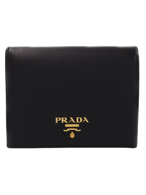 【PRADA】プラダ『二つ折り短財布』1MV204 レディース 1週間保証【中古】b05b/h10S