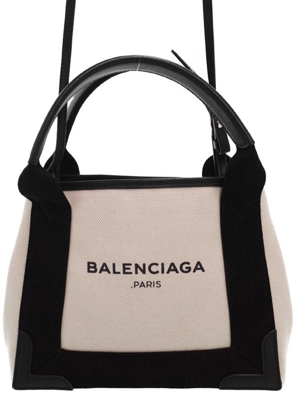 【BALENCIAGA】バレンシアガ『ネイビーカバ XS』390346 レディース 2WAYバッグ 1週間保証【中古】b05b/h10A