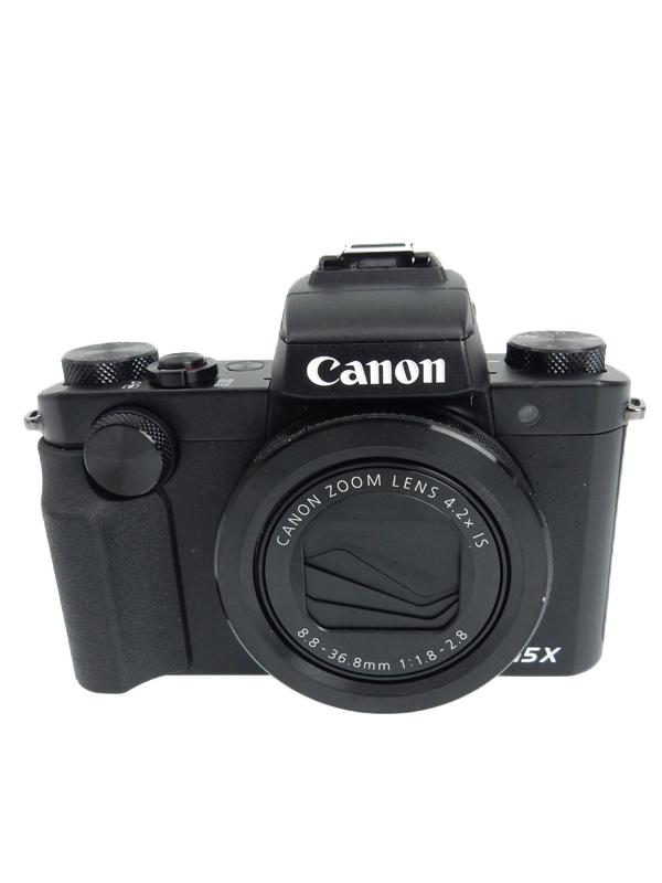 【Canon】キヤノン『PowerShot G5 X』PSG5X ブラック 2020万画素 24-100mm相当 光学4.2倍 Wi-Fi コンパクトデジタルカメラ【中古】b06e/h17AB