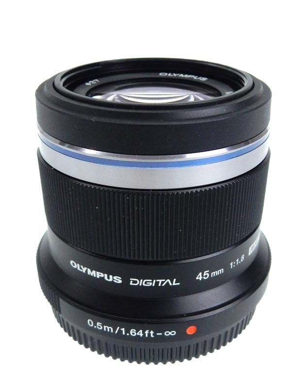 【OLYMPUS】オリンパス『M.ZUIKO DIGITAL 45mm F1.8』90mm相当 ポートレート ハイスピードイメージャAF 背景ボケ デジタル一眼カメラ用レンズ 1週間保証【中古】b06e/h17A