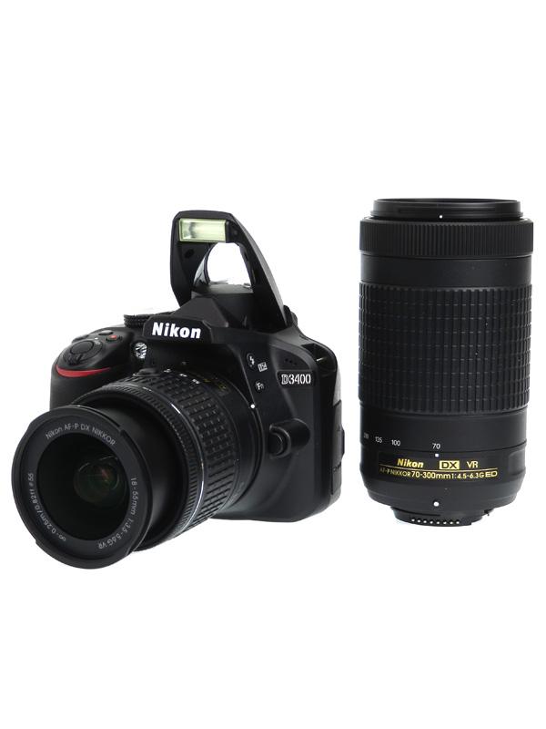 【Nikon】ニコン『D3400ダブルズームキット』ブラック 2416万画素 DXフォーマット デジタル一眼レフカメラ 1週間保証【中古】b06e/h17AB
