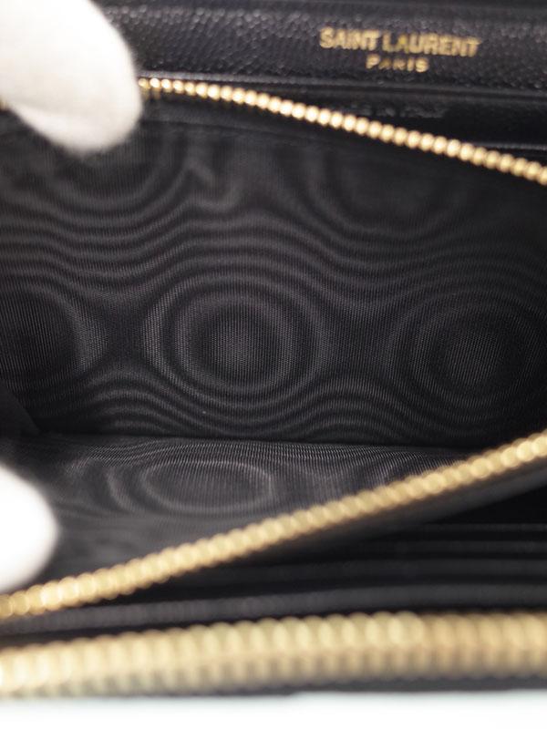 c0b73f3ac350 【SAINT LAURENT PARIS】サンローランパリ『モノグラム サンローラン フルジップウォレット』358094 レディース  ラウンドファスナー長財布 1週間保証【中古】
