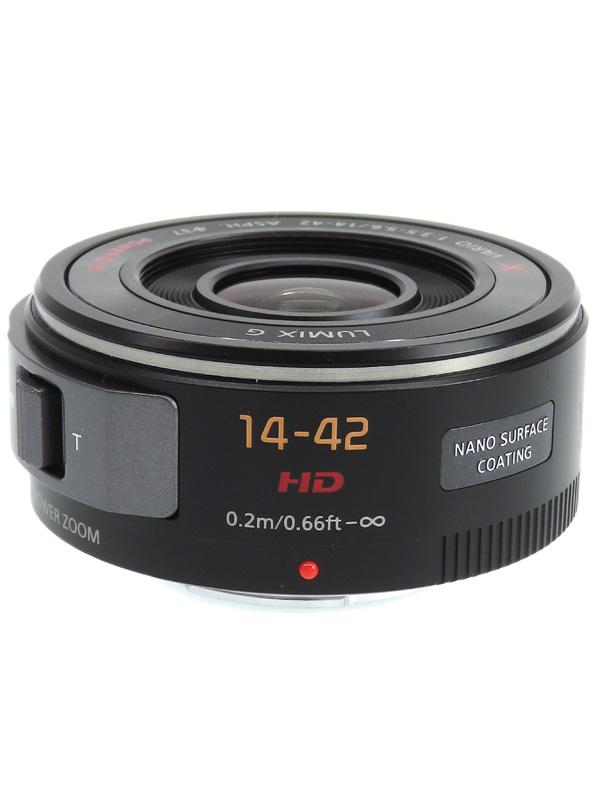 【Panasonic】パナソニック『LUMIX G X VARIO PZ 14-42mm F3.5-5.6 ASPH. POWER O.I.S.』H-PS14042-K ブラック ミラーレス一眼カメラ用レンズ 1週間保証【中古】b06e/h17AB