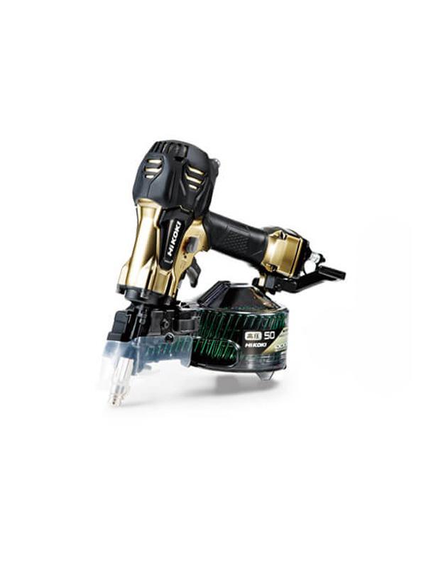 【HiKOKI】日立工機『高圧ロール釘打機』NV50HR2(S) 50mm メタリックゴールド パワー切替機構付【新品】b00t/b00N