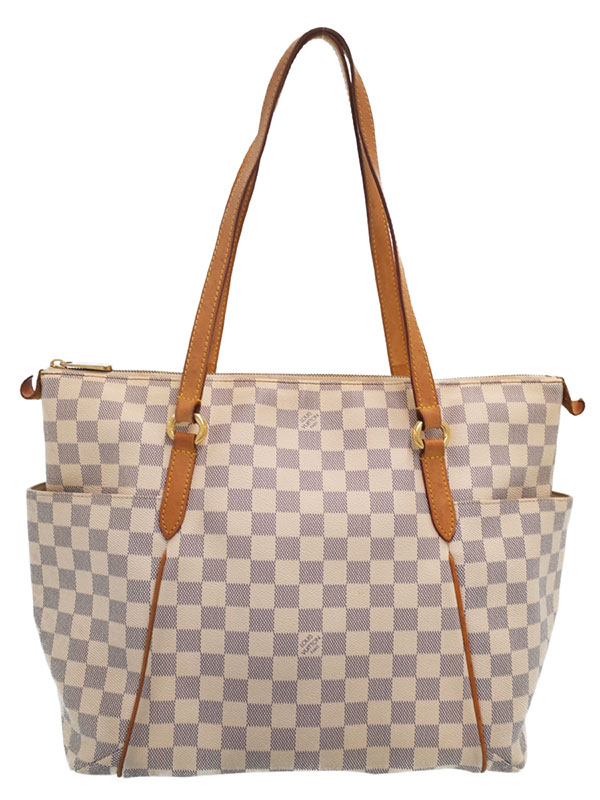 【LOUIS VUITTON】【made in U.S.A】ルイヴィトン『ダミエ アズール トータリーMM』N51262 レディース トートバッグ 1週間保証【中古】b06b/h06B