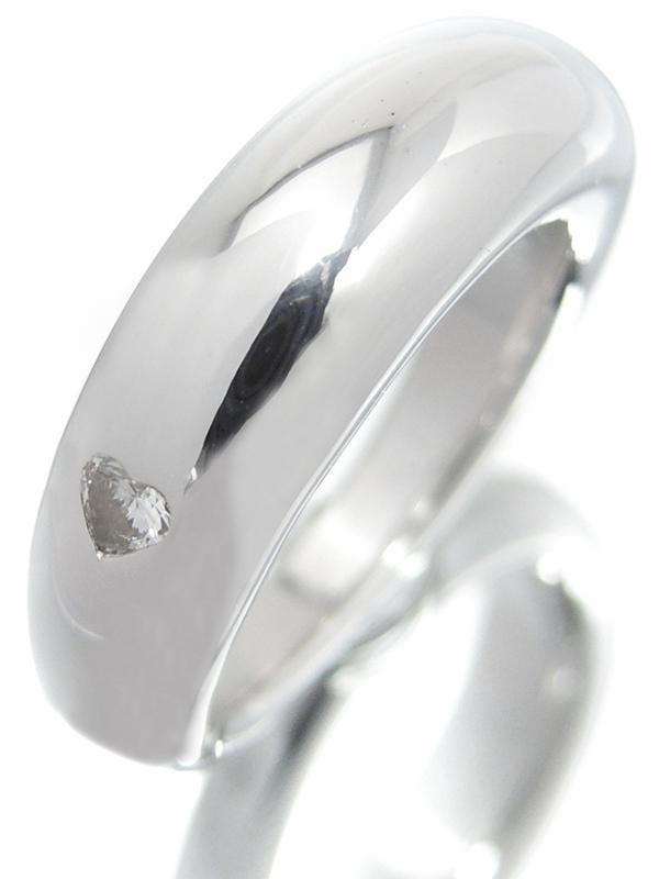 【CHAUMET】【ハート】【仕上済】 ショーメ『K18WG アノー クール リング 1Pダイヤモンド』16号 1週間保証【中古】b06j/h17SA