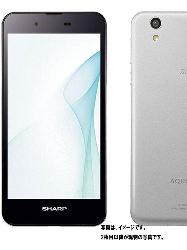 【SHARP】【アクオス】シャープ『AQUOS SH-M04 SIMフリー 16GB シルバー』SH-M04 2016年12月発売 スマートフォン 1週間保証【中古】b03e/h17AB