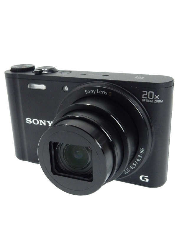 【SONY】ソニー『Cyber-shot(サイバーショット)』DSC-WX350(B) ブラック 1820万画素 3.0型 光学20倍 Wi-Fi デジタルカメラ【中古】b03e/h15AB