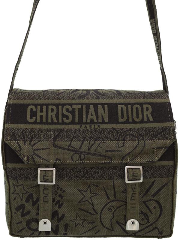 【Christian Dior】クリスチャンディオール『ディオール キャンプ メッセンジャーバッグ』M1291VRRI メンズ ショルダーバッグ 1週間保証【中古】b02b/h03SA
