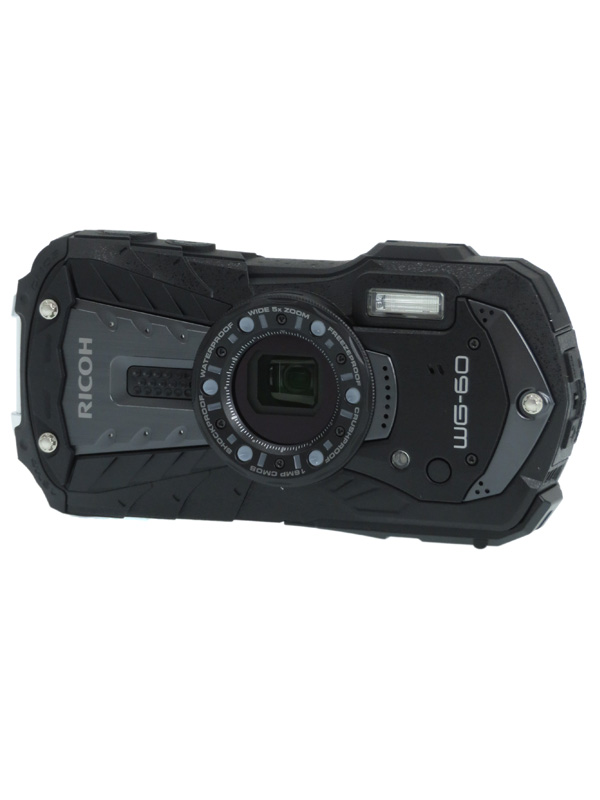 【RICOH】リコー『WG-60』ブラック 1600万画素 光学5倍 フルHD動画 水深14m 耐衝撃1.6m コンパクトデジタルカメラ 1週間保証【中古】b02e/h19A