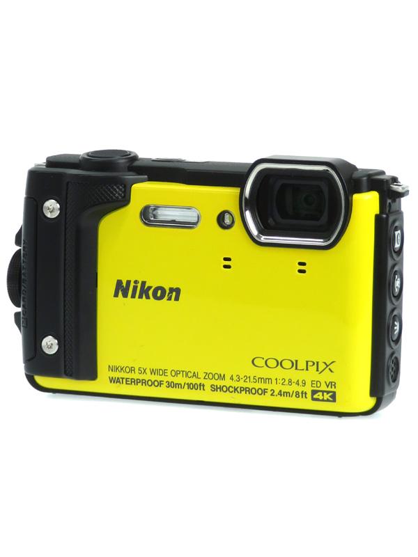【Nikon】ニコン『COOLPIX W300』W300YW イエロー 1605万画素 光学5倍 4K動画 水深30m コンパクトデジタルカメラ 1週間保証【中古】b02e/h21B