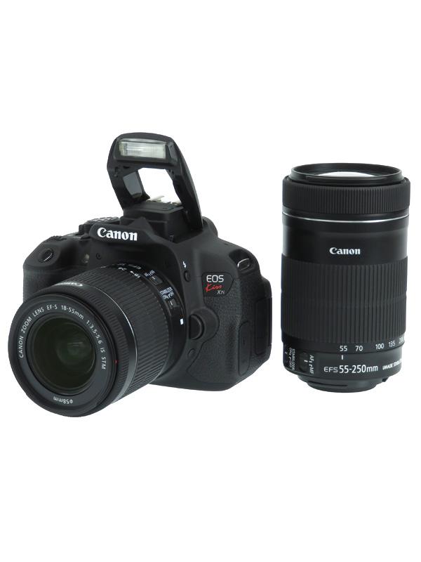 【Canon】キヤノン『EOS Kiss X7i ダブルズームキット』KISSX7i-WKIT 1800万画素 デジタル一眼レフカメラ 1週間保証【中古】b02e/h02AB