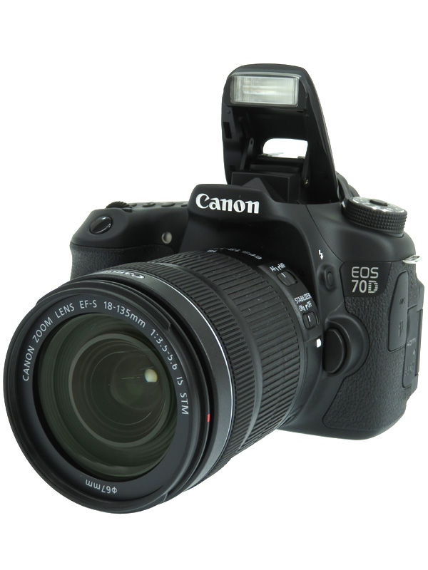 【Canon】キヤノン『EOS 70D EF-S 18-135 IS STMレンズキット』APS-C 2020万画素 バリアングル Wi-Fi フルHD動画 デジタル一眼レフカメラ 1週間保証【中古】b05e/h12AB